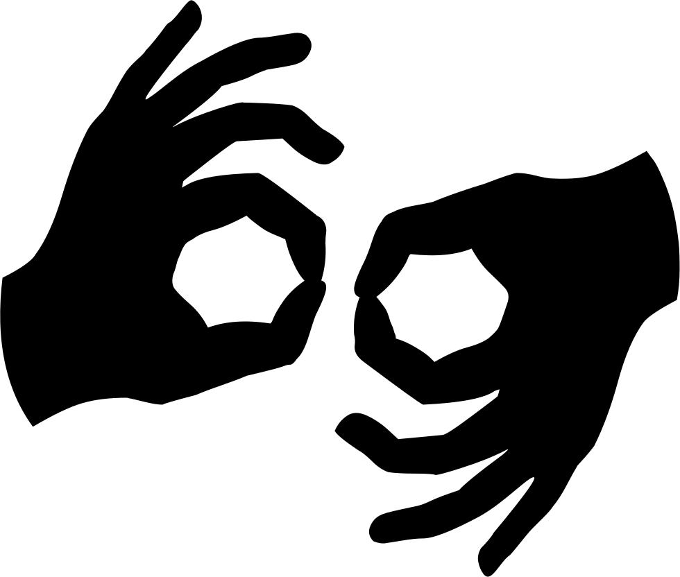 Deaf Sign Language Svg Png Icon Free Download (#57165.