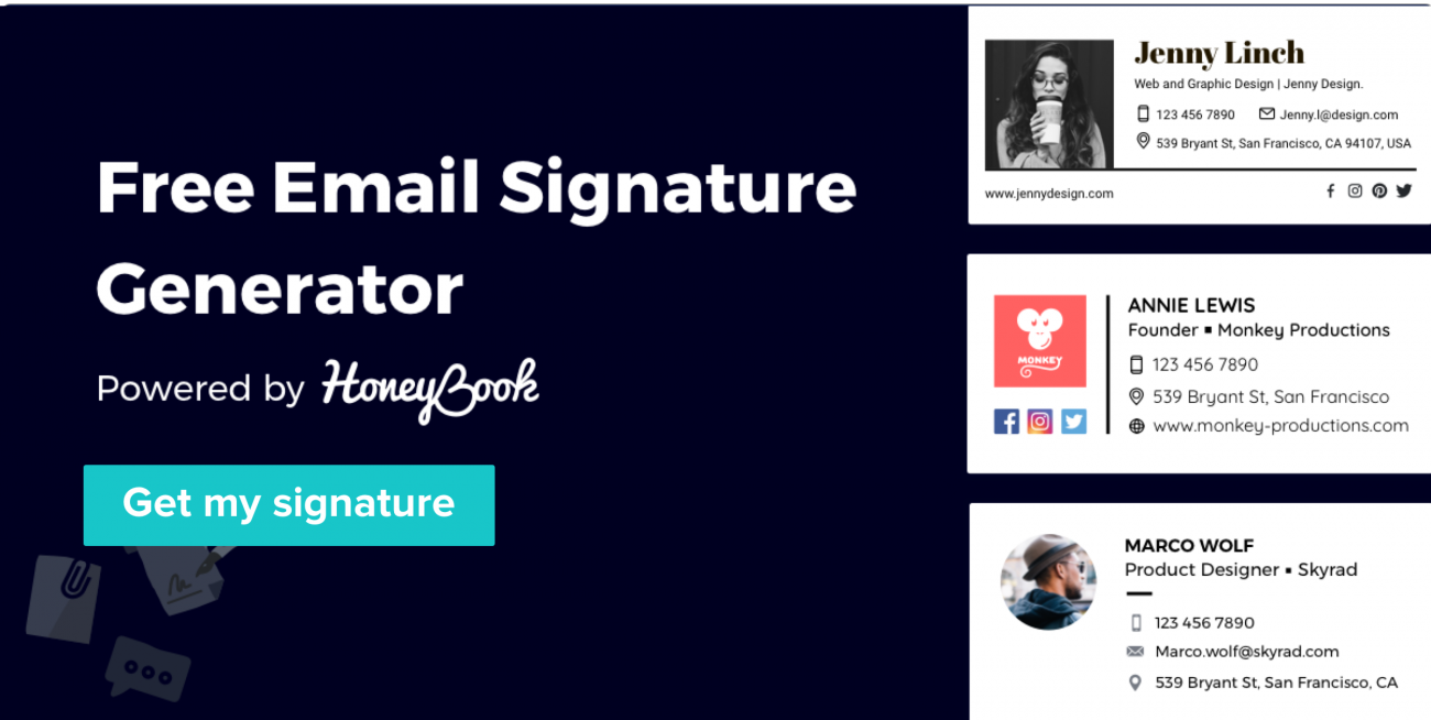 Free Email Signature Generator and Templates.