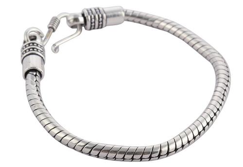 Men\'\'s Silver Metal Spiral Alloy Bracelet.