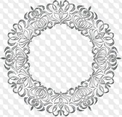 Collection of 25 round silver frames PNG and PSD, download.