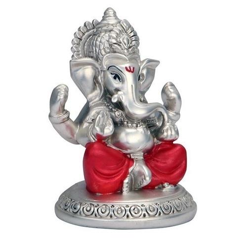 Silver Ganesh Statue.