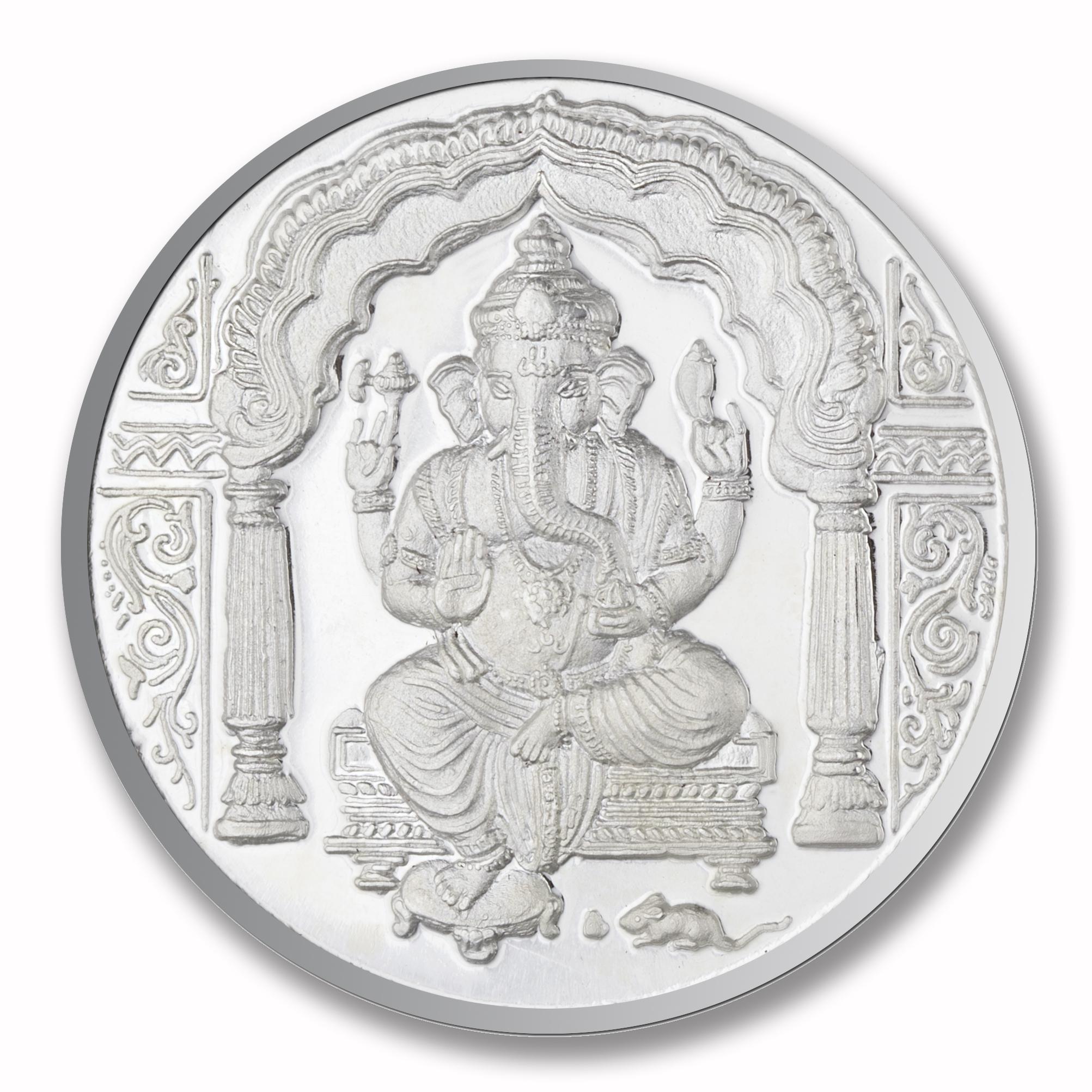 50 gms Ganesha Om Silver Coin.