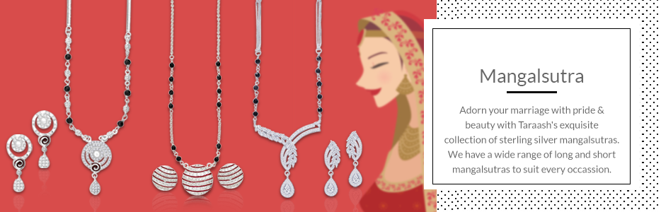 Buy Silver & Diamond Traditional Mangalsutra at Best Prices.