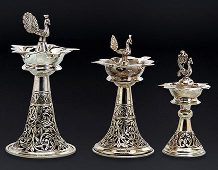 Silver Lamp Set And Samai Set.