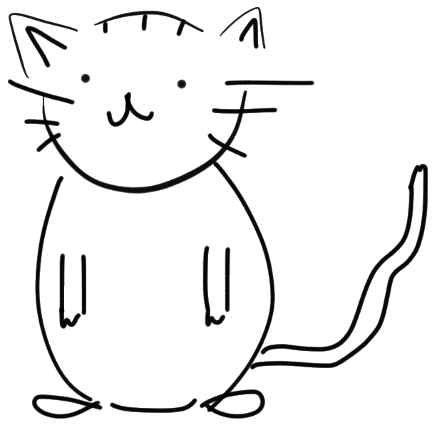 File:Black and White Cat Sketch.png.
