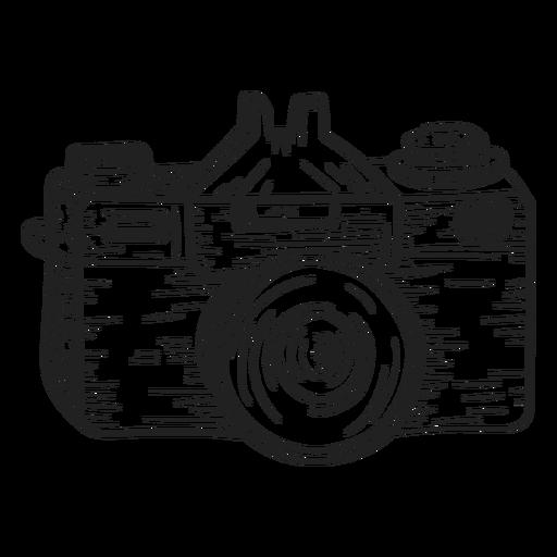 Photo camera sketch.