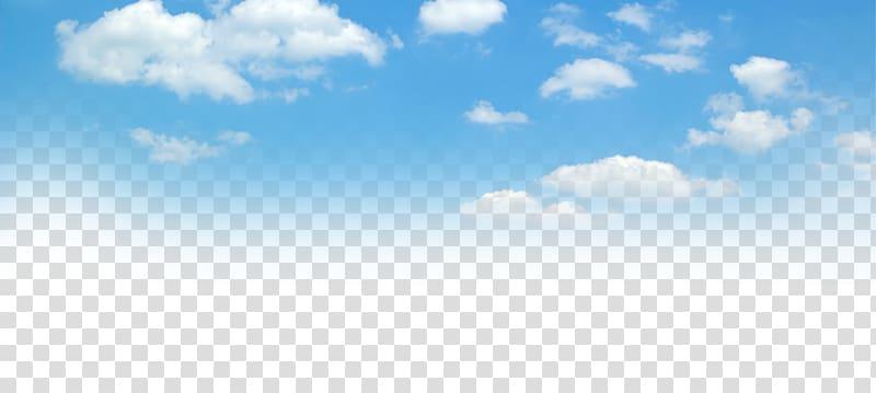 Blue sky and white clouds, of blue sky transparent.