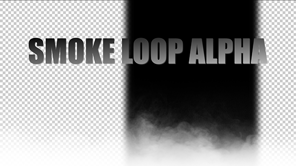 Realistic Smoke Loop with Alpha Channel.