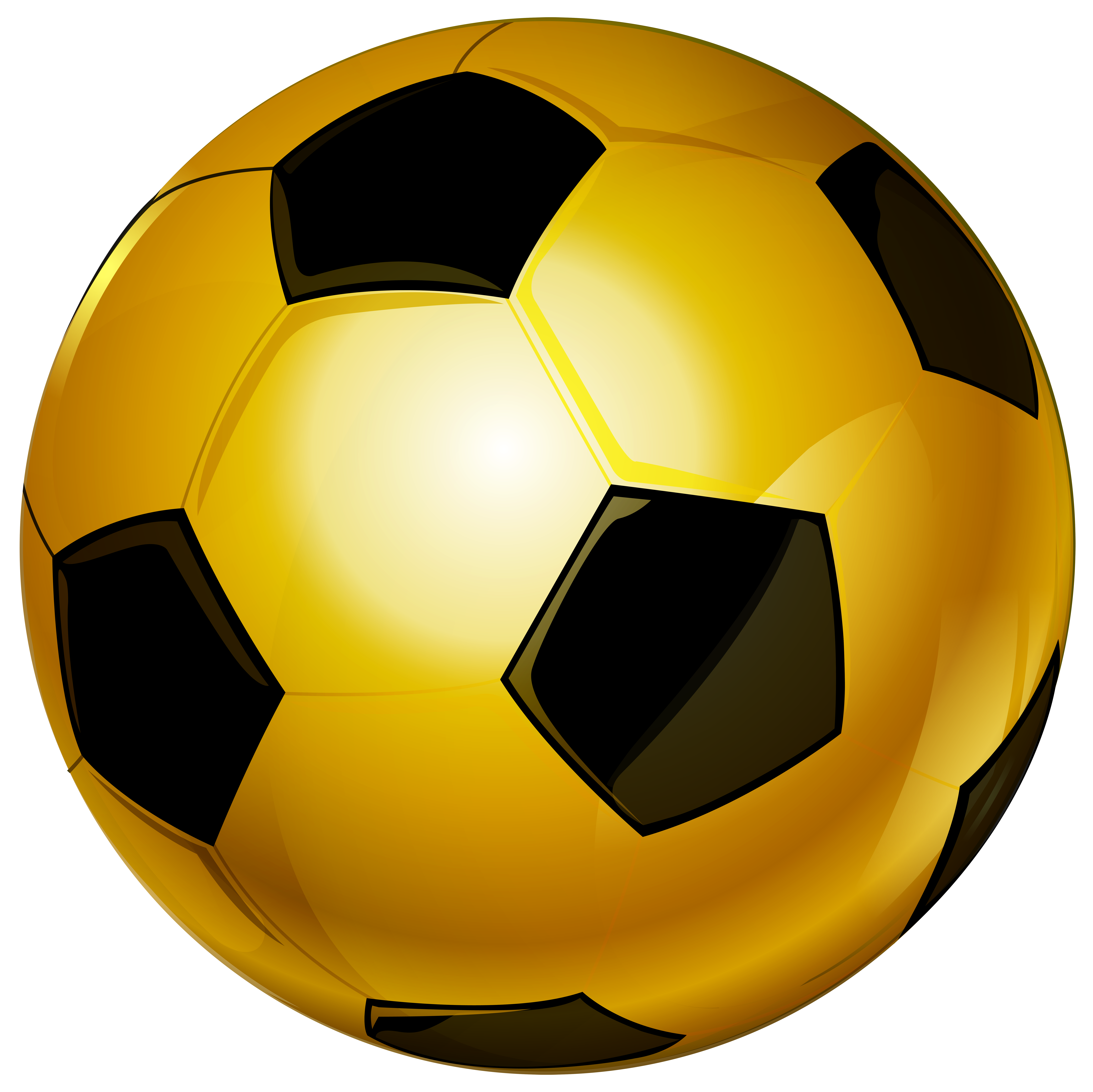 Gold Soccer Ball PNG Clip Art Image.
