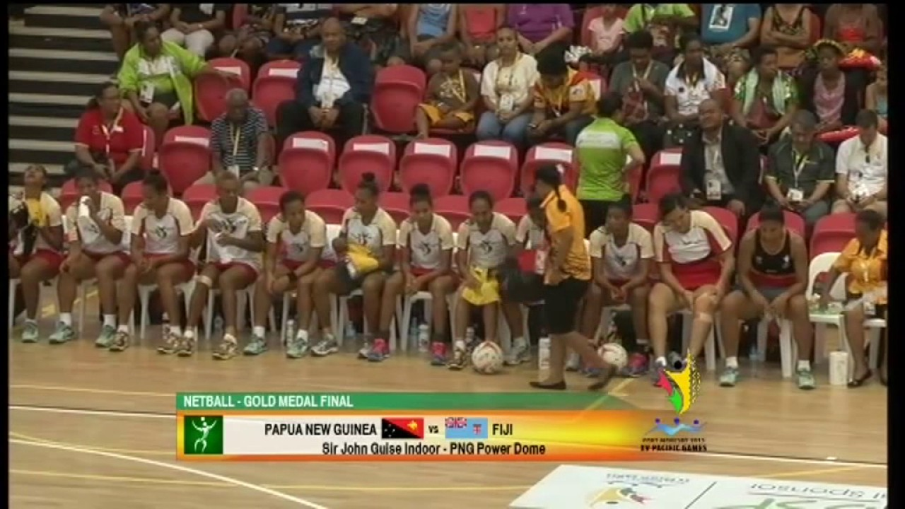 Pacific Games 2015 D15 NETBALL F GOLD PNG vs FIJI.