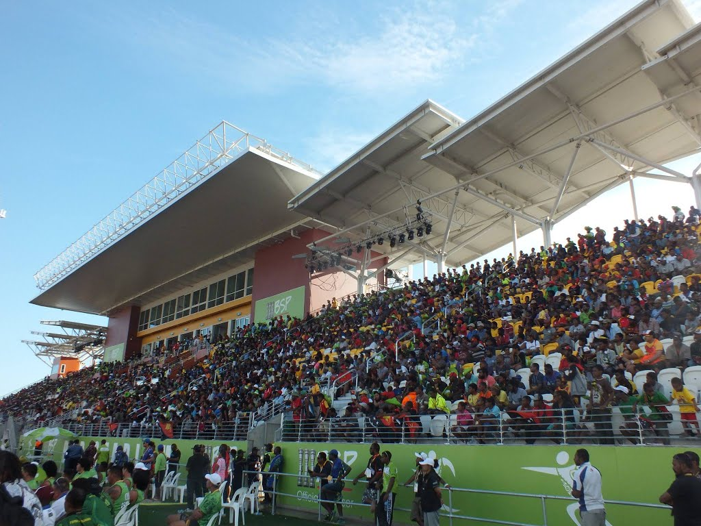 Sir John Guise Stadium during the South Pacific Games in.