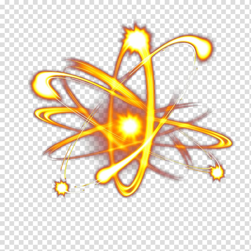 Atom illustration, Light Halo Special Effects Graphic design.