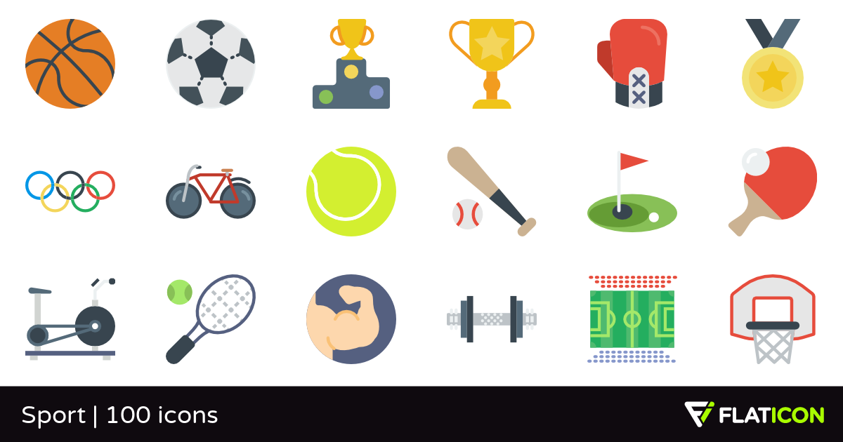 Sport 100 free icons (SVG, EPS, PSD, PNG files).
