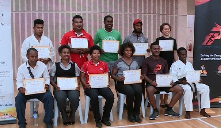 25 Receive accreditation certificates under PNG Sports.