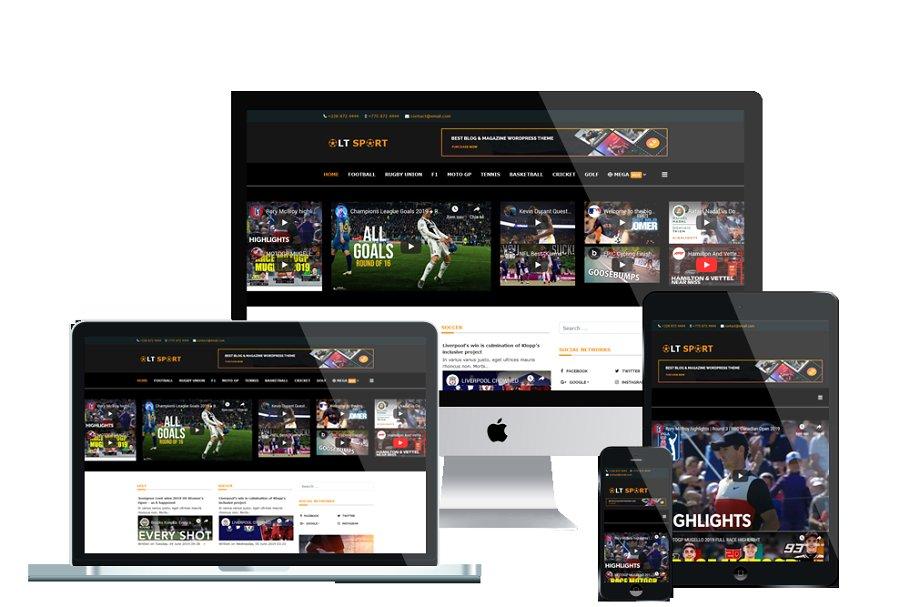 LT Sport News Joomla template.