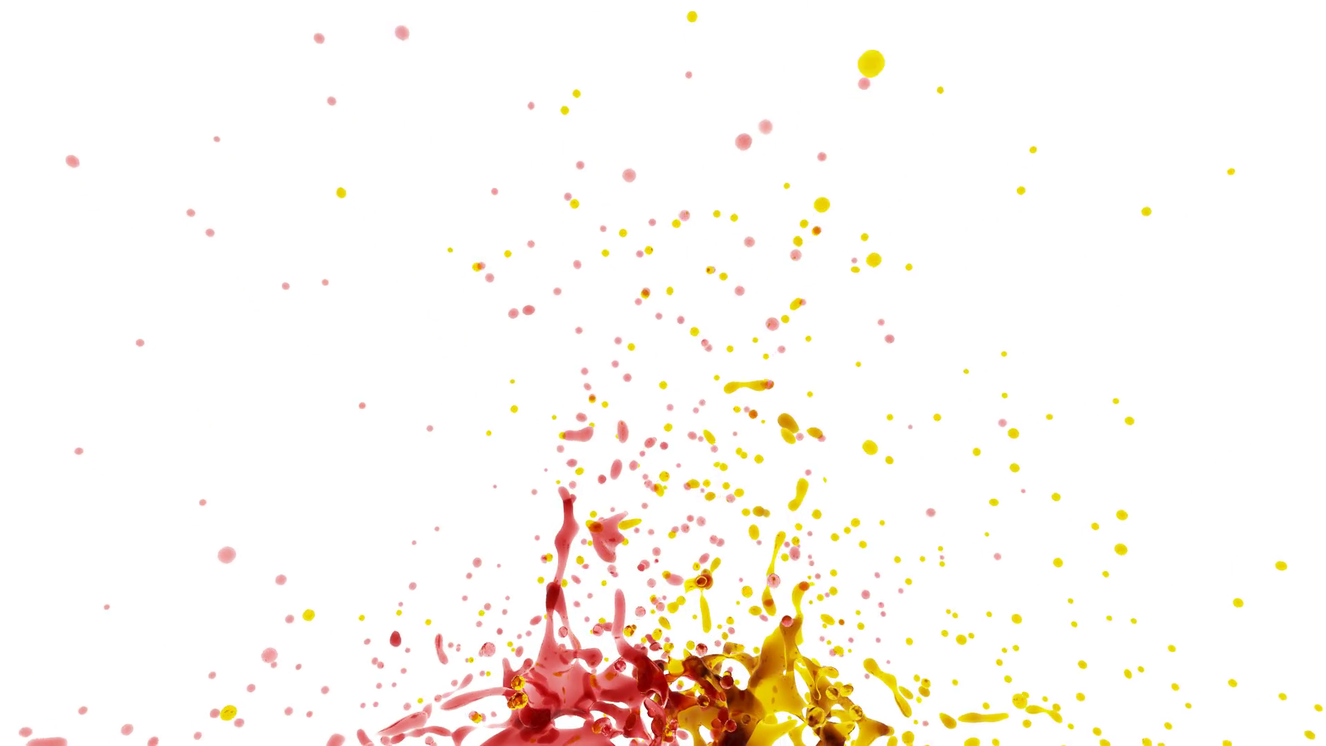 spray of drops orange, red color liquid. slow motion. png alpha Stock Video  Footage.
