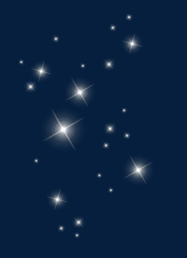 Floating Stars, Light, Blurry, White PNG Transparent Image.