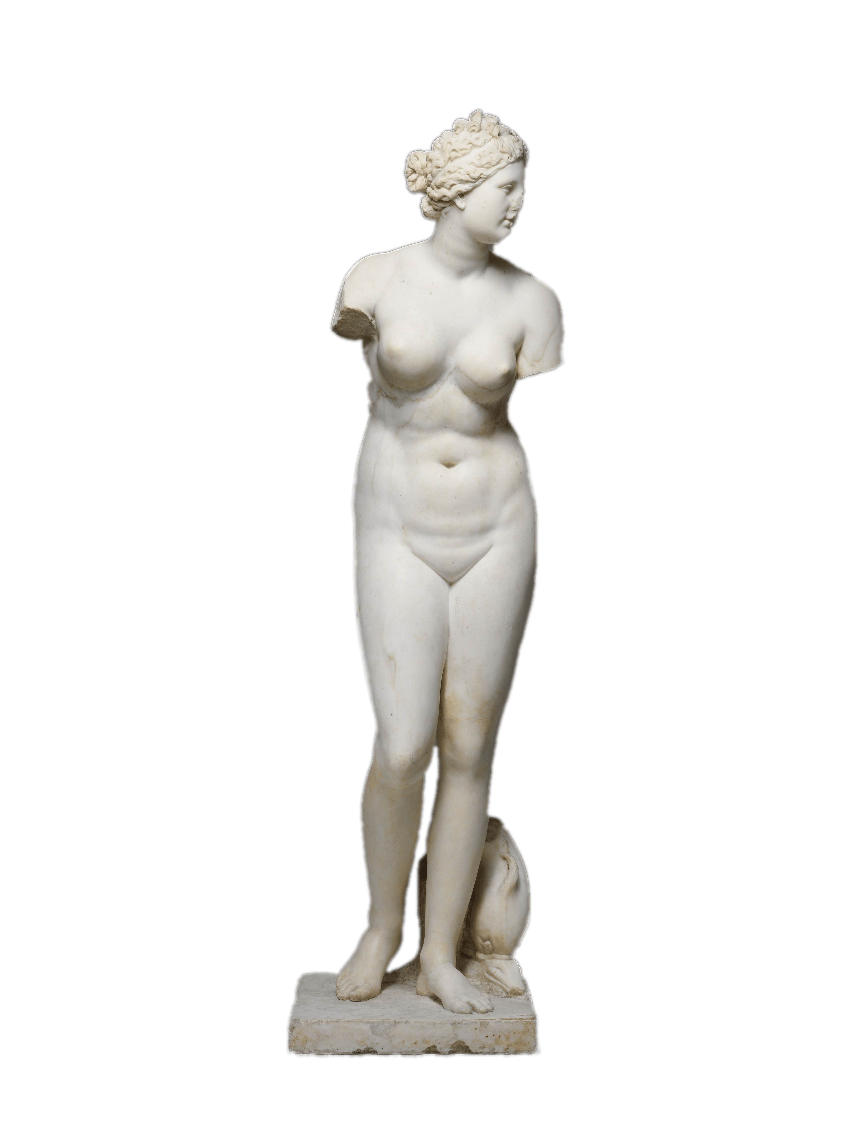 Marble Statue Of Aphrodite transparent PNG.