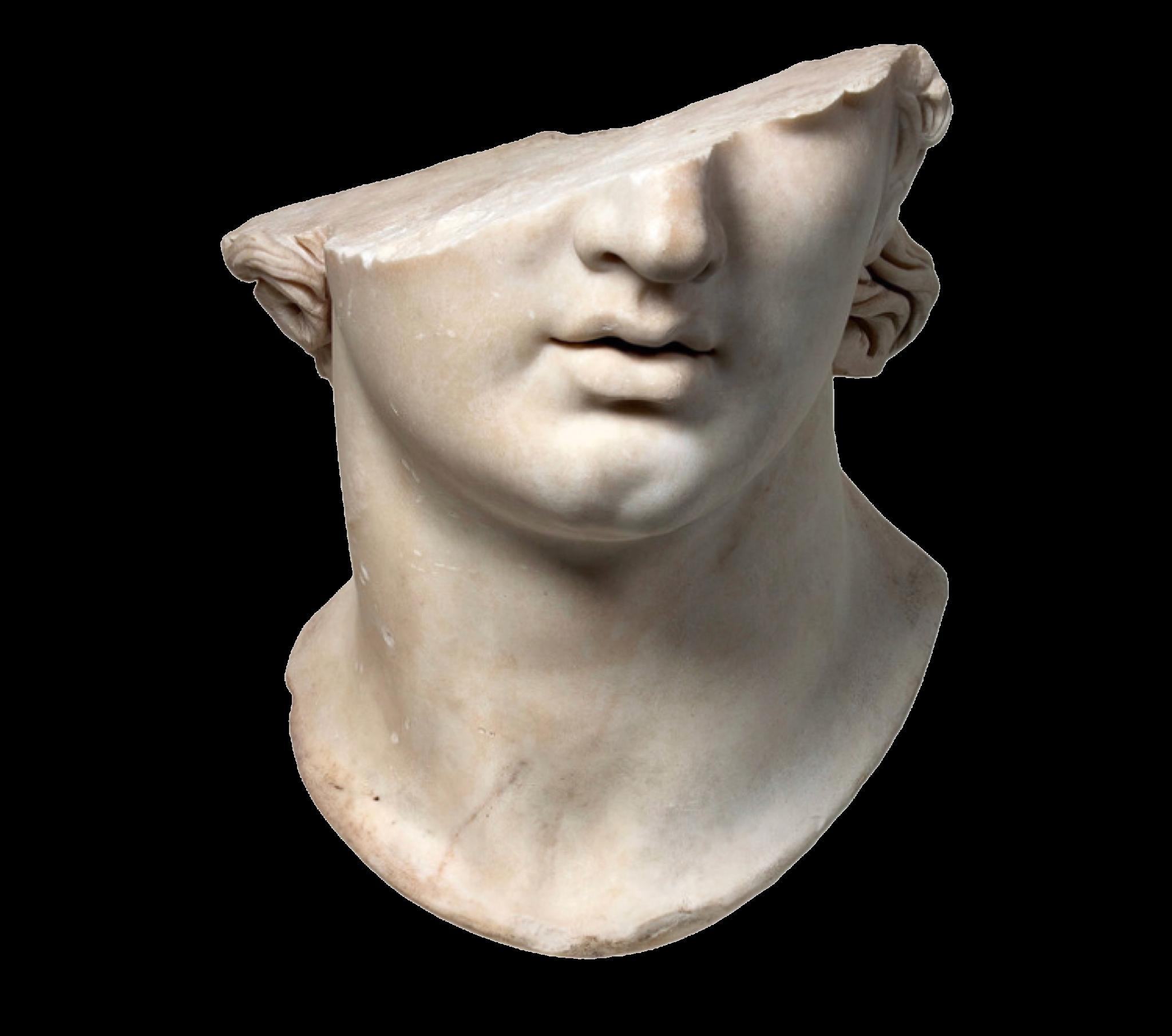 broken statue / polyvore.