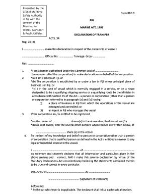 Form Statutory Declaration.