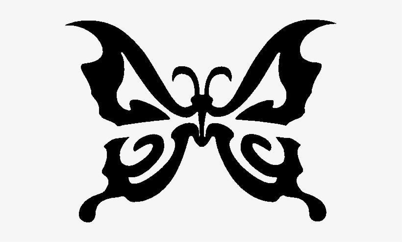 Glitter Tattoo Stencil Butterfly.