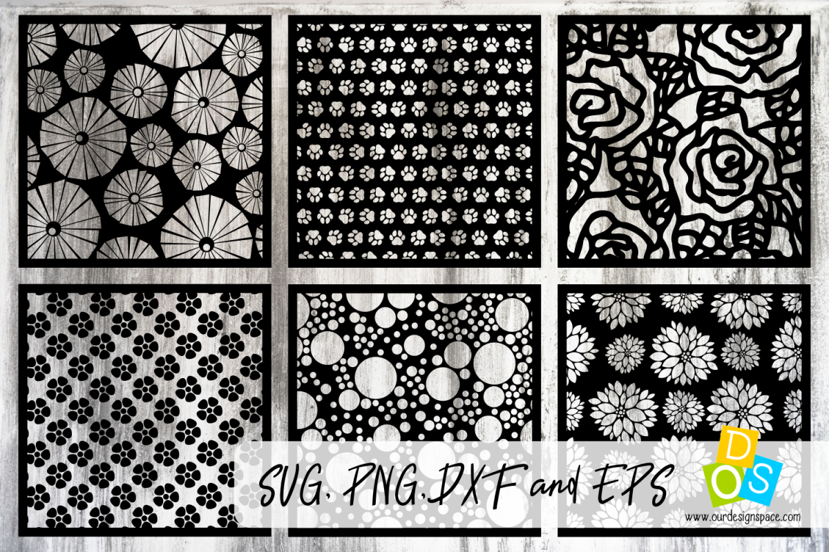 Patterns & Stencils SVG, PNG, DXF and EPS files.
