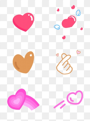Love Stickers PNG Images.