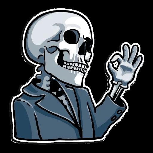 Skull Sticker transparent PNG.