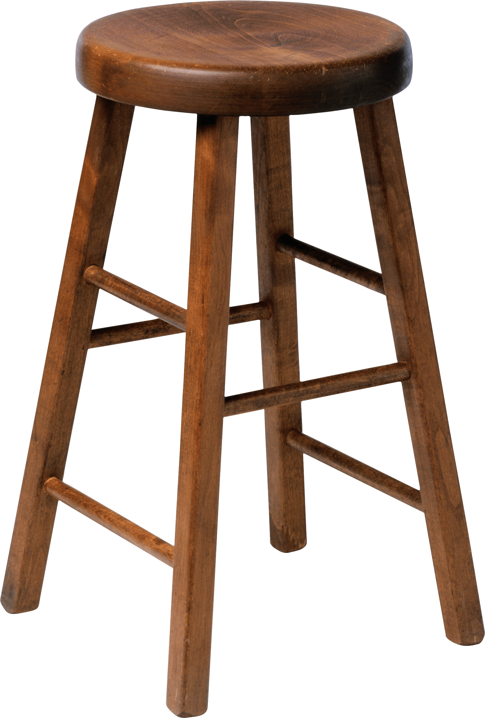 Wooden Stool Chair transparent PNG.