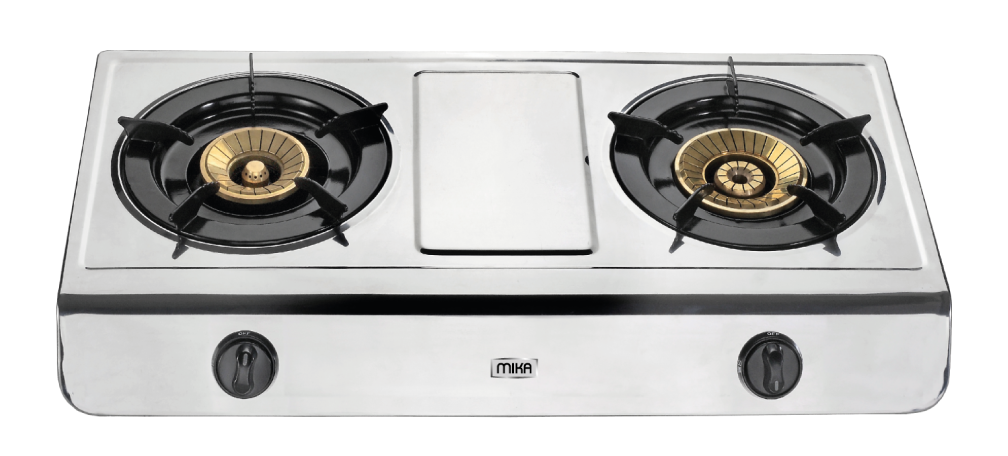 Gas Stove, Table Top, Stainless Steel, 2 #38752.