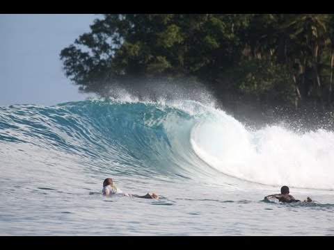Surfing PNG with The Perfect Wave at Nusa Island Retreat.