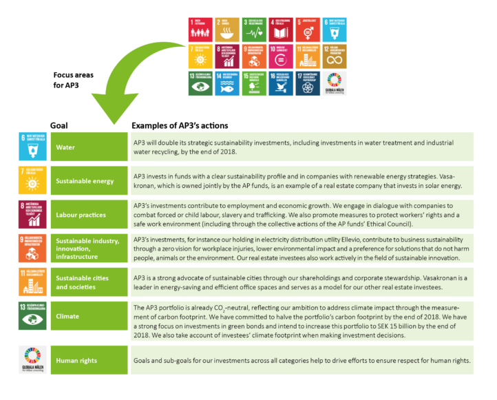 AP3 supports the UN Sustainable Development Goals.