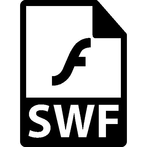 Swf file format symbol Icons.