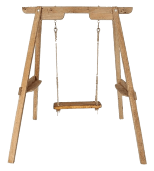 Wooden Swing Frame transparent PNG.