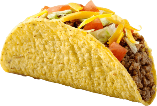 Tacos With Meat and Cheese transparent PNG.
