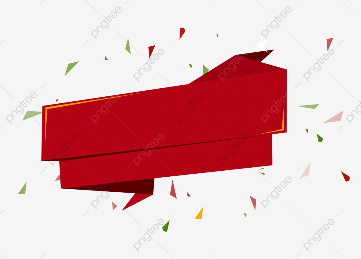 Red Festive Promotional Title Tag, Red, Joyous, Label PNG.