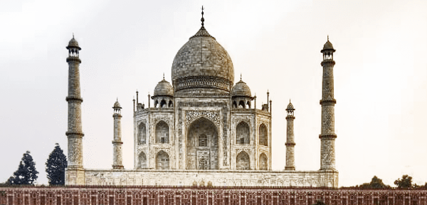 Taj Mahal India transparent background.