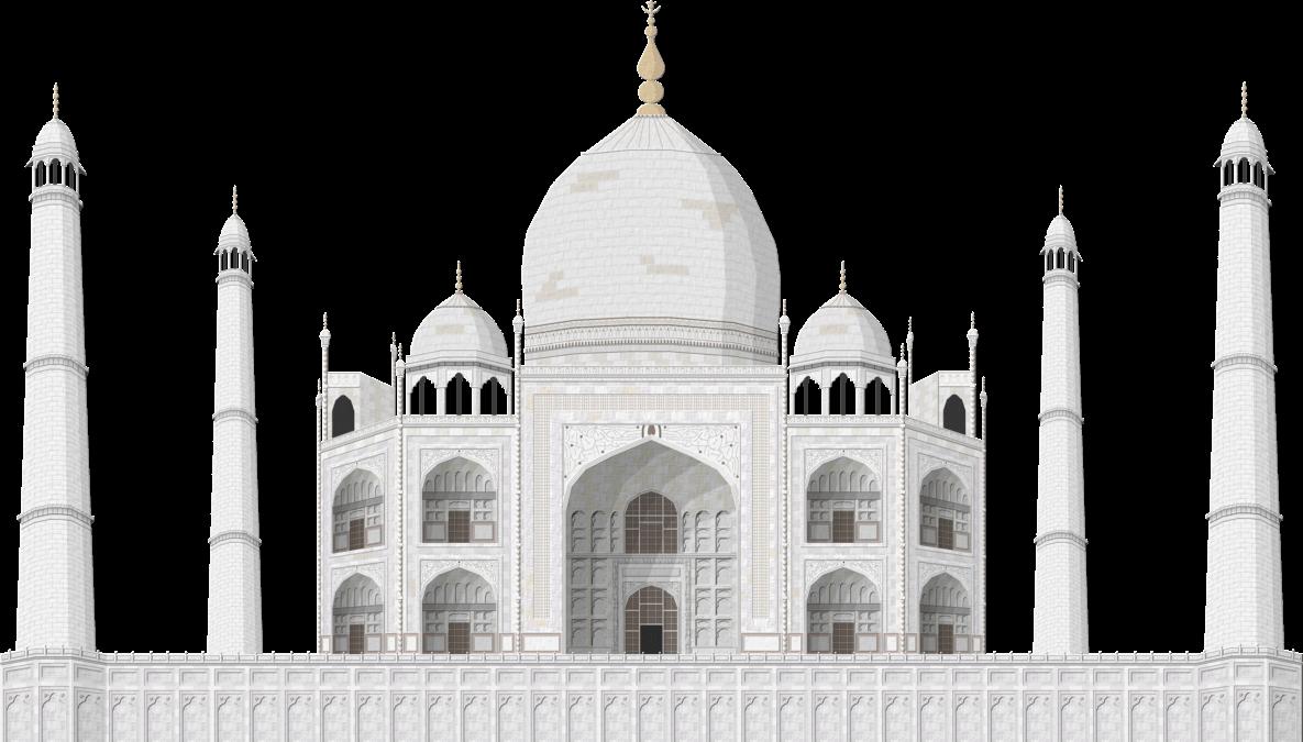 Taj Mahal Large transparent PNG.