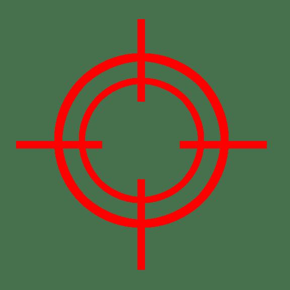 Red Target transparent PNG.