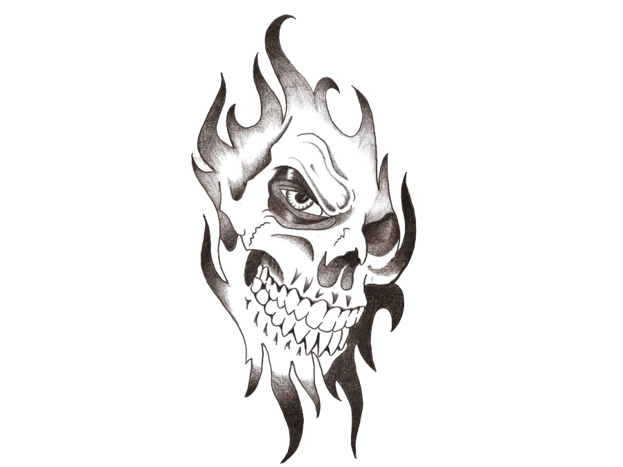 Skull Tattoo PNG Transparent Images.