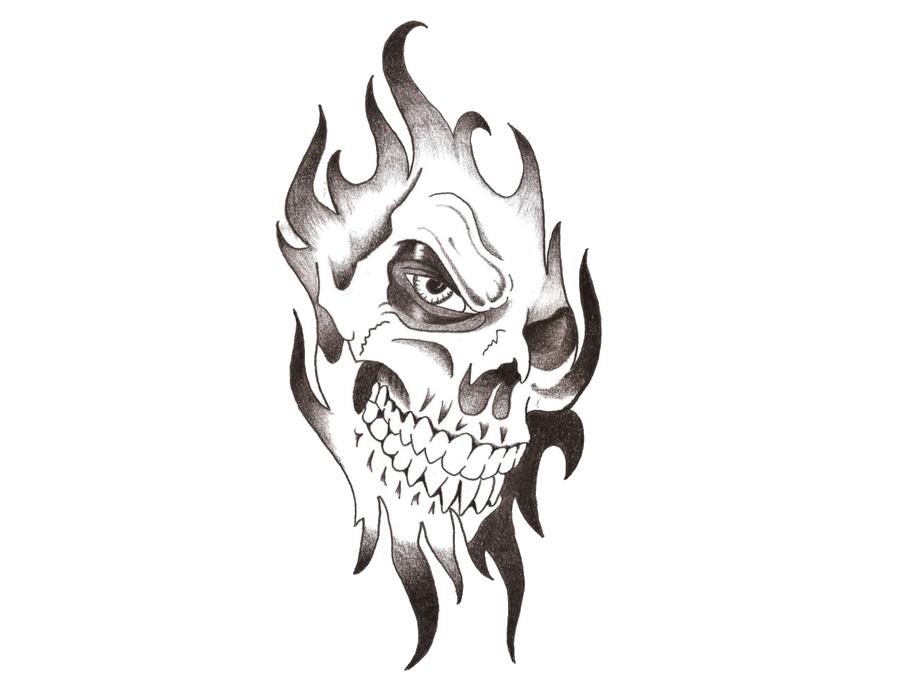 Skull Tattoo PNG Transparent Images.