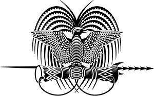 Papua New Guinea Emblem Bird of Paradise Tattoo Design.