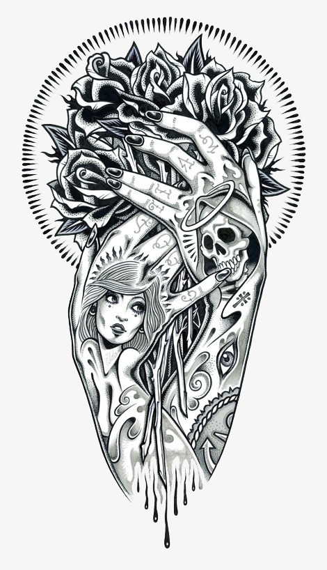 Hand Tattoo Renderings, Tattoo, Beauty Tattoo, Hand Tattoo.