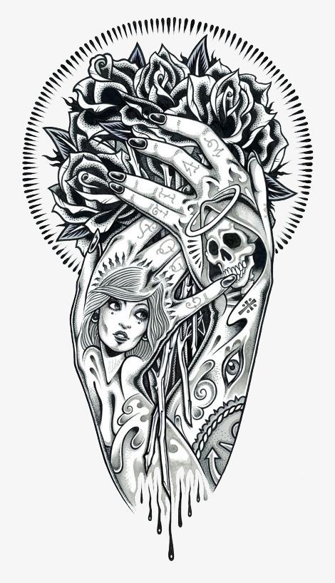 Hand Tattoo Renderings, Tattoo, Beauty Tattoo, Hand Tattoo.