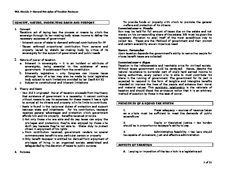 PDF) TAX. Module 1.