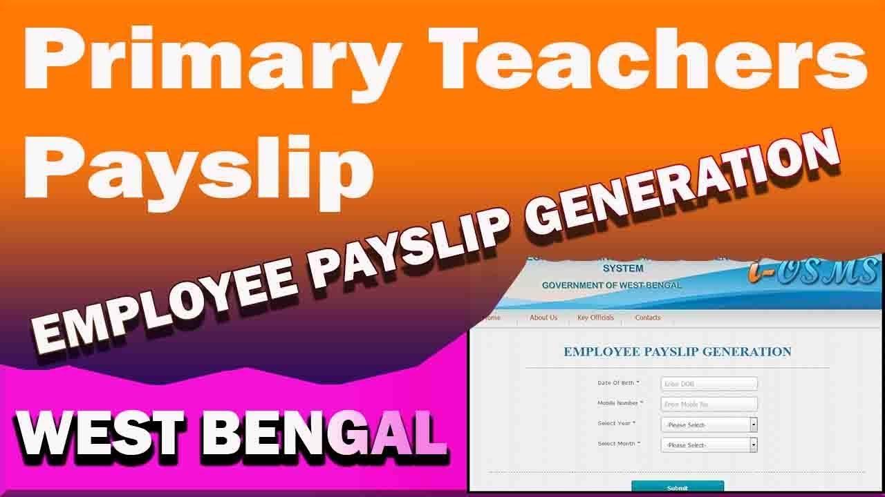 Primary Teacher Payslip Online Download Procedure West Bengal.