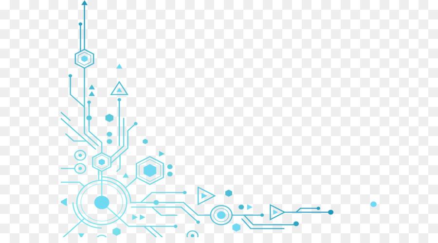 Blue Tech Elements Decoration Png Downlo #241444.