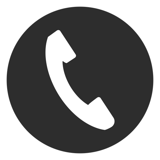 Telephone black and white icon.