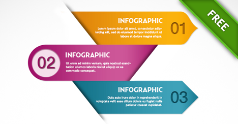 Free PSD Infographics Template.