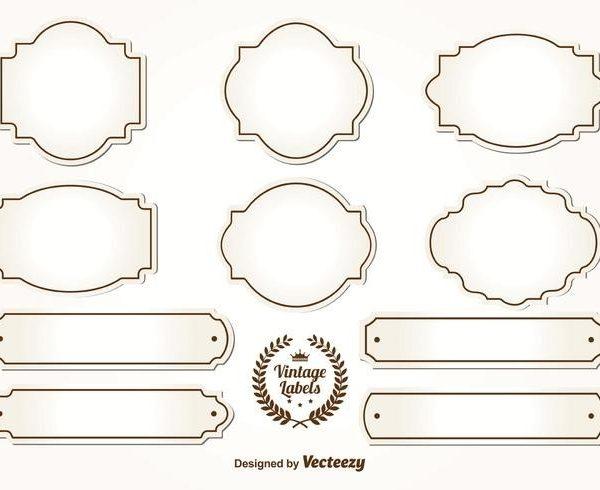 Blank Vintage Labels.